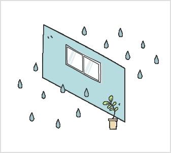 調湿ができない室内環境 イラスト