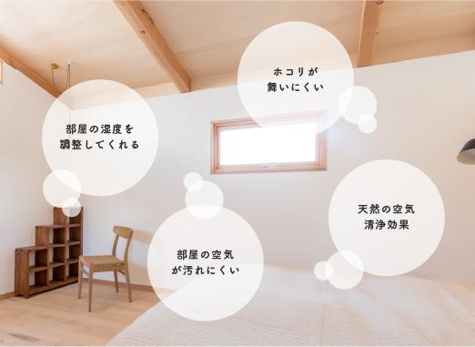 スイスウォールが部屋の空気にできることイメージ画像