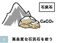 高品質な石灰石を使う
